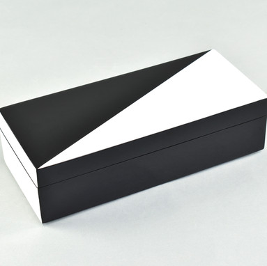 "White ""N"" Black- Pencil Box"