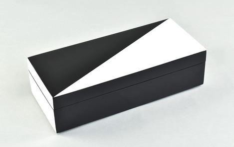 "White ""N"" Black- Pencil Box"