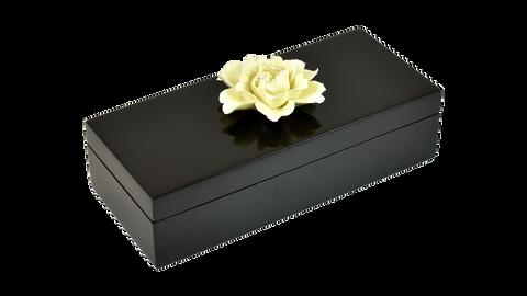 Black- Pencil Yellow Porcelain Flower