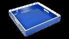 """True Blue White- 16"""" Square Tray"""