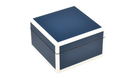 Five Side Navy Blue with White - Square Box