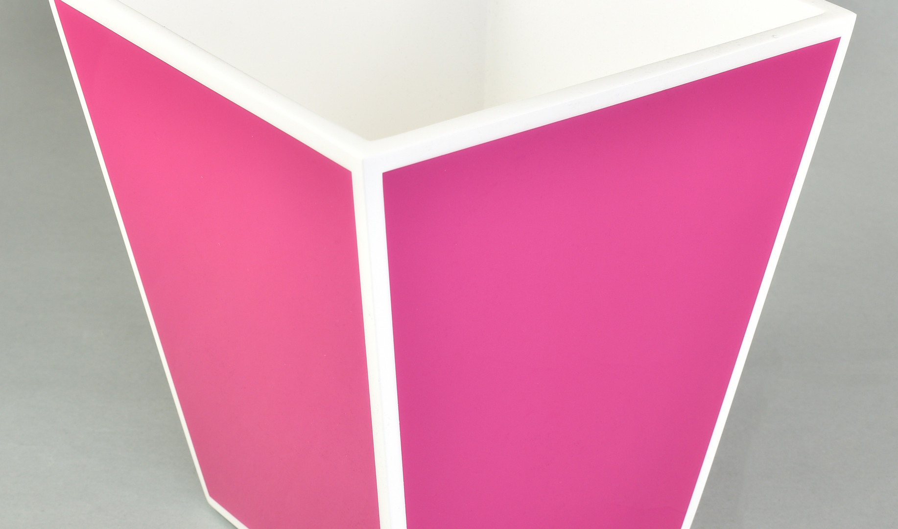 Hot Pink with White- Wastebasket