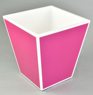 Hot Pink with White- Wastebasket
