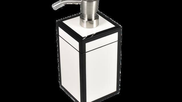 White with Black Trim- Lotion Pump