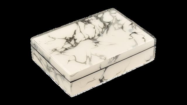 Cream Carrara- Playing Card Box