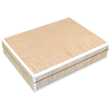 Sycamore with Silver Dollar- Stationery Box