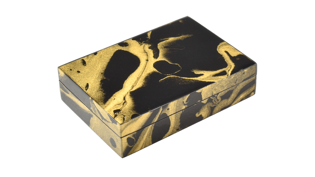 Black Gold Marble- Playing Card Box