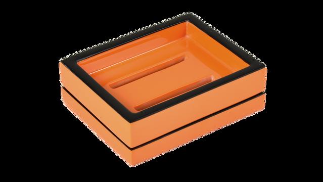Orange Black Trim- Soap Dish