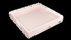"Paris Pink White Trim- 16"" Square Tray"