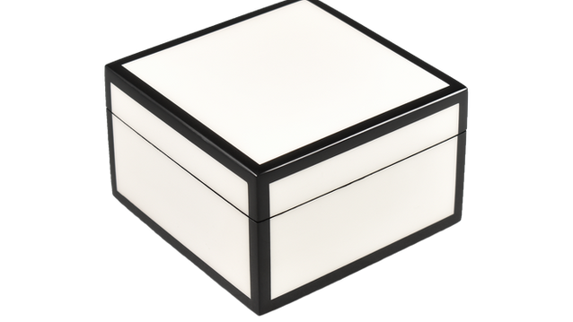 Five Side White with Black- Square Box
