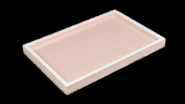 Paris Pink with White Trim- Vanity Tray