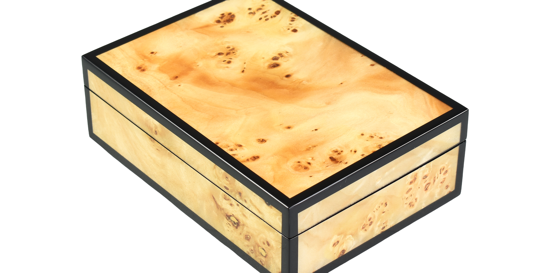 "Five Side Mappa Burl ""Keepsake"" Hinged Box"