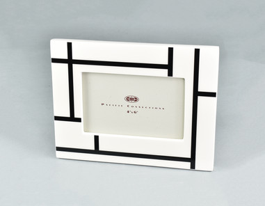 White Grid- Picture Frame