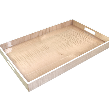 Sycamore with Silver Dollar Trim - Breakfast Tray