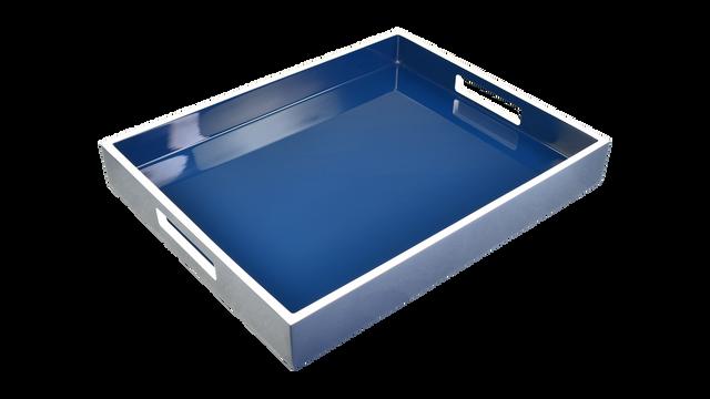 Navy Blue White Trim- Reiko Tray