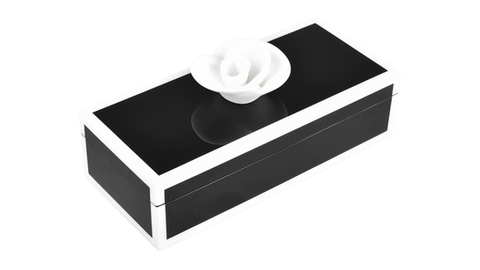 Black with White Trim- Pencil Handle Box