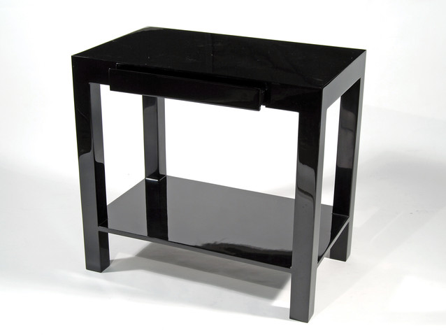 "Lido Side Table 30""L- Black"