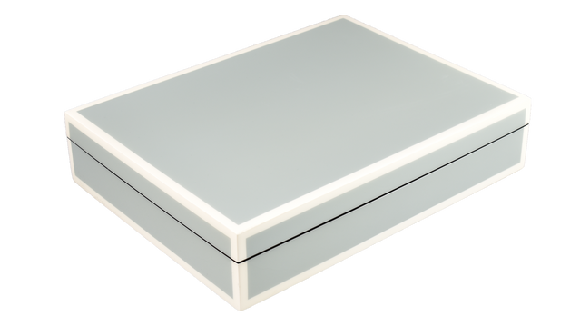 Five Side Cool Gray with White- Stationery Box