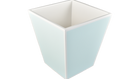 Duck Egg Blue with White- Wastebasket