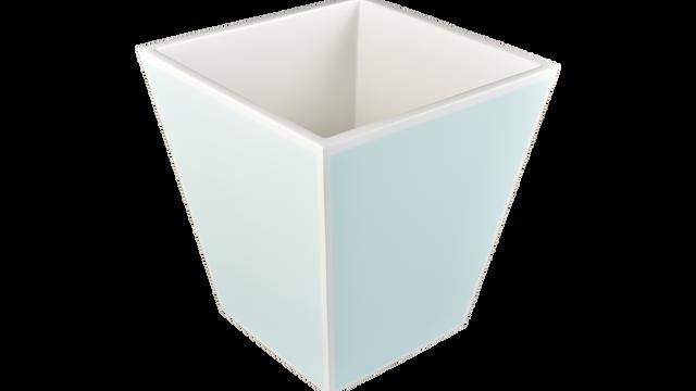 Duck Egg wtih White- Wastebasket