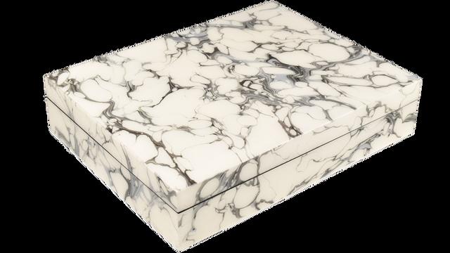 Cream Carrara- Stationery Box