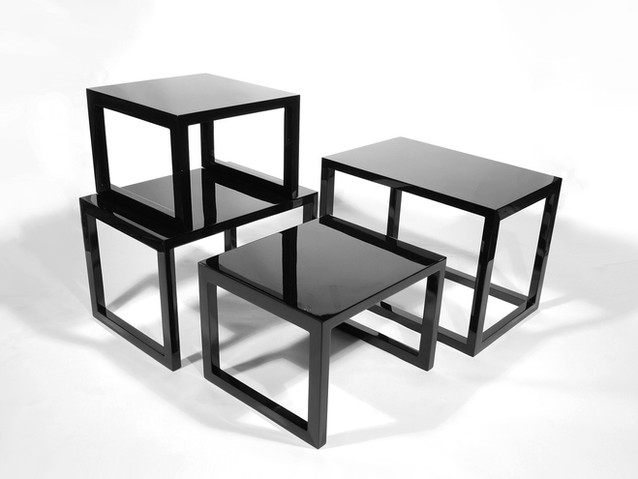Nested Table: Set of 4- Black
