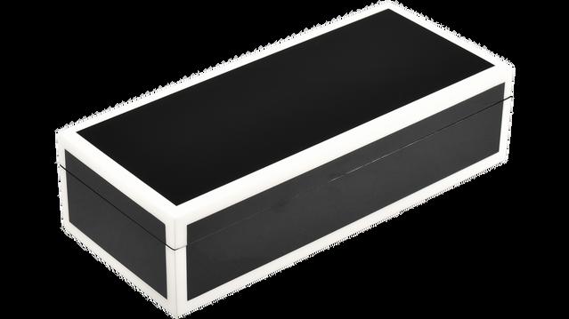 Black with White Trim- Pencil Box