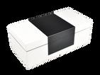 White with Black Center- Hinged Box
