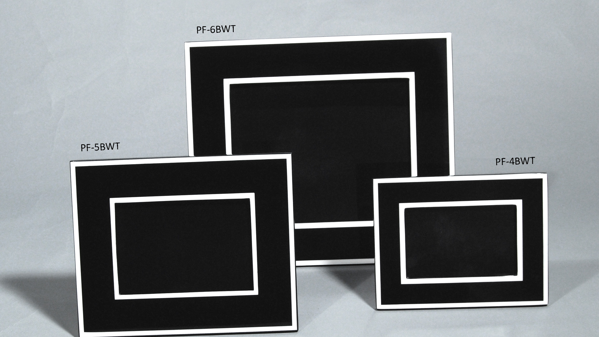 Black with White Trim- Picture Frames