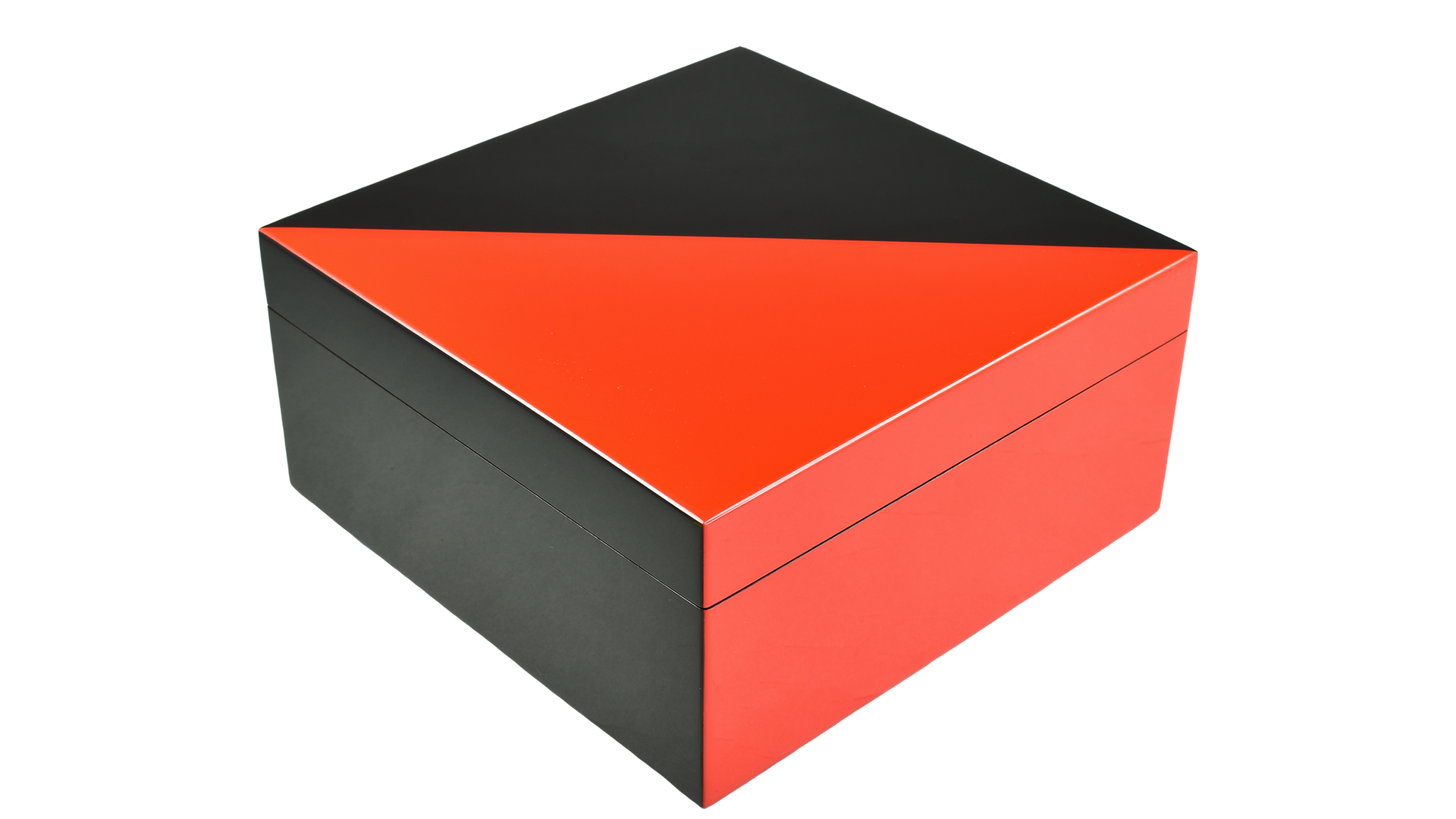 "Red ""N"" Black- Hinged Box"