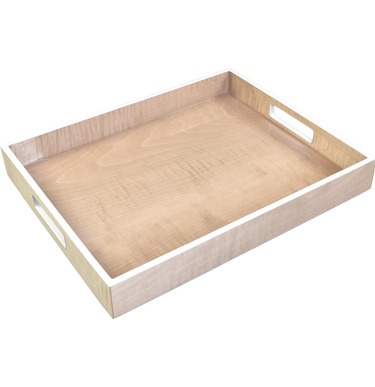 Sycamore with Silver Dollar Trim - Reiko Tray