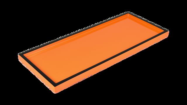 Orange Black Trim- Long Vanity Tray