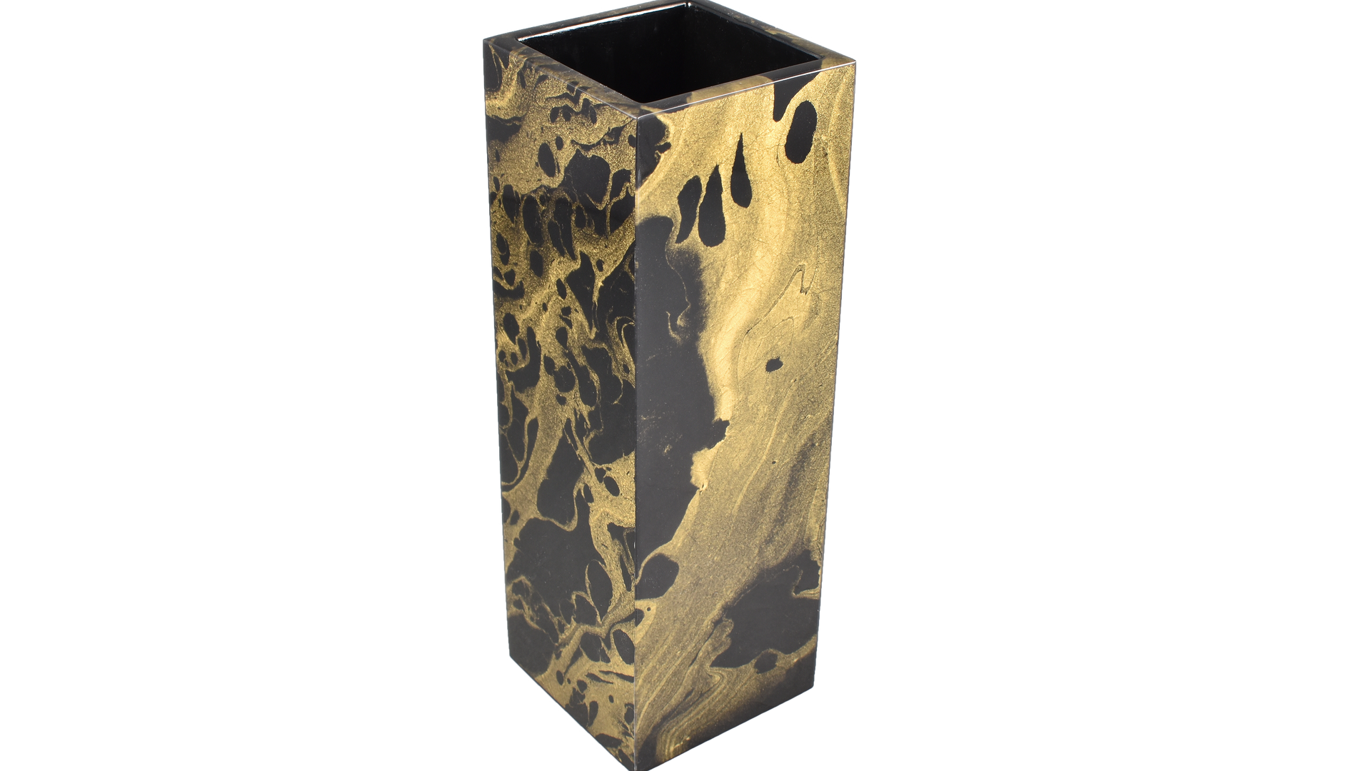 Black Gold Marble- Flower Vase