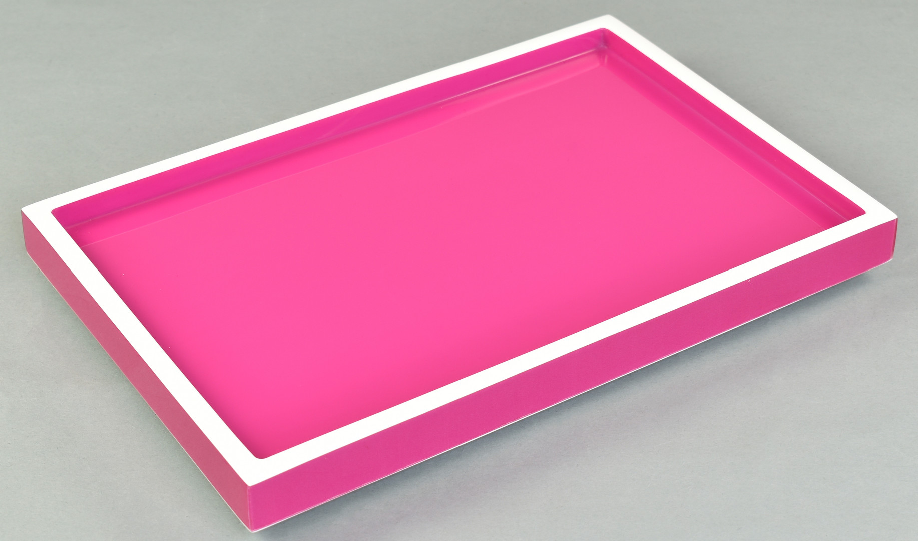 Hot Pink with White- Vanity Tray