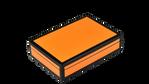 Orange Black Trim- Playing Card Box