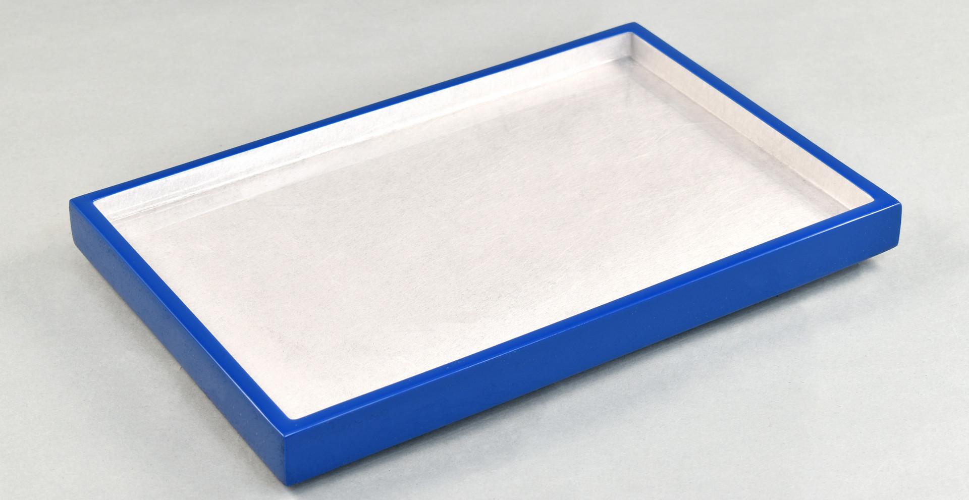Shine Silver/True Blue- Vanity Tray