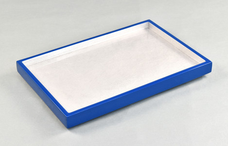 Shine Silver/True Blue- Vanity Tray