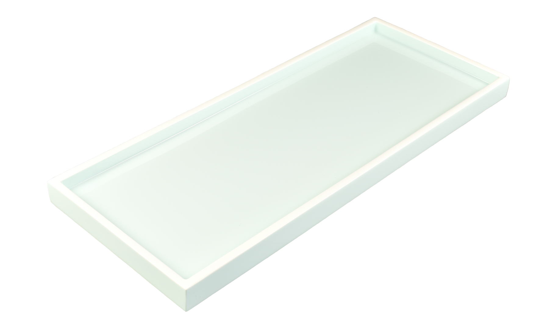 Duck Egg with White- Long Vanity Tray