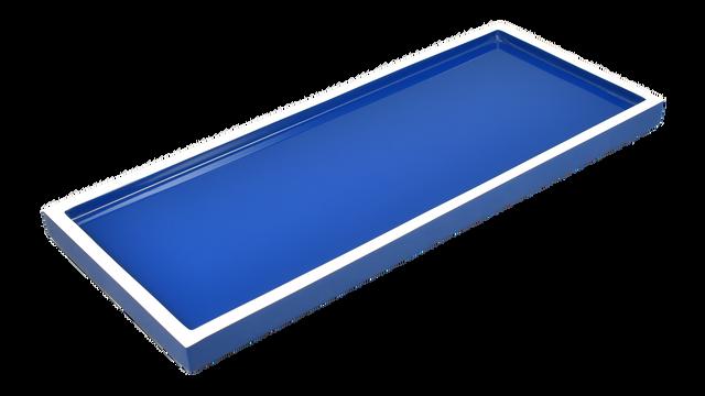 True Blue White Trim- Long Vanity Tray