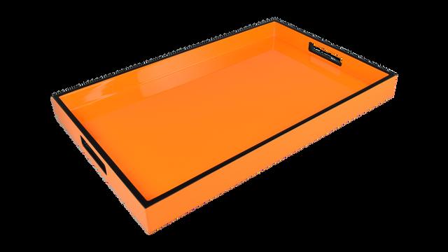 Orange with Black Trim- Breakfast Tray