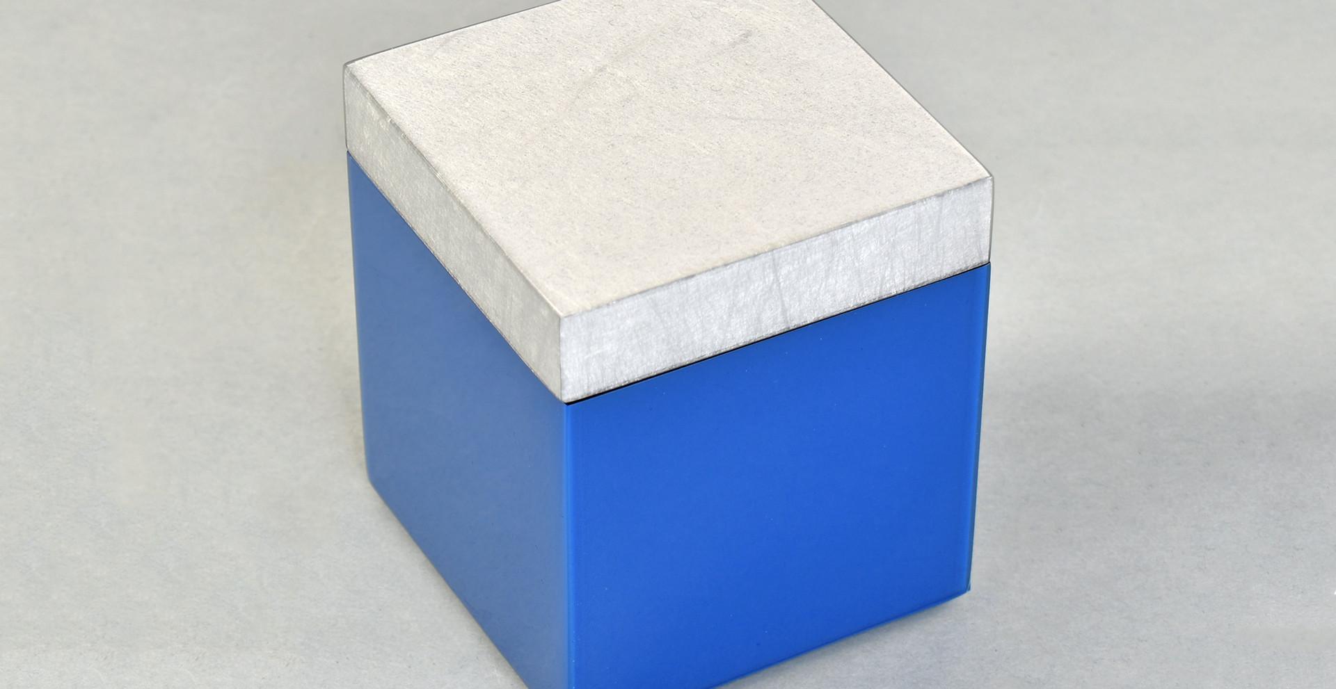 Shine Silver/True Blue- Q-Tip Box