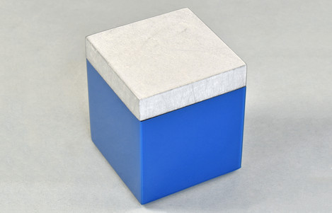 Shine Silver/True Blue- Q-Tip Box