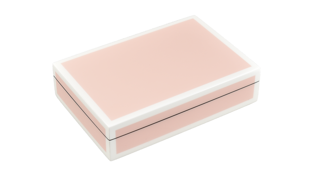 Paris Pink with White Trim- Playing Card Box