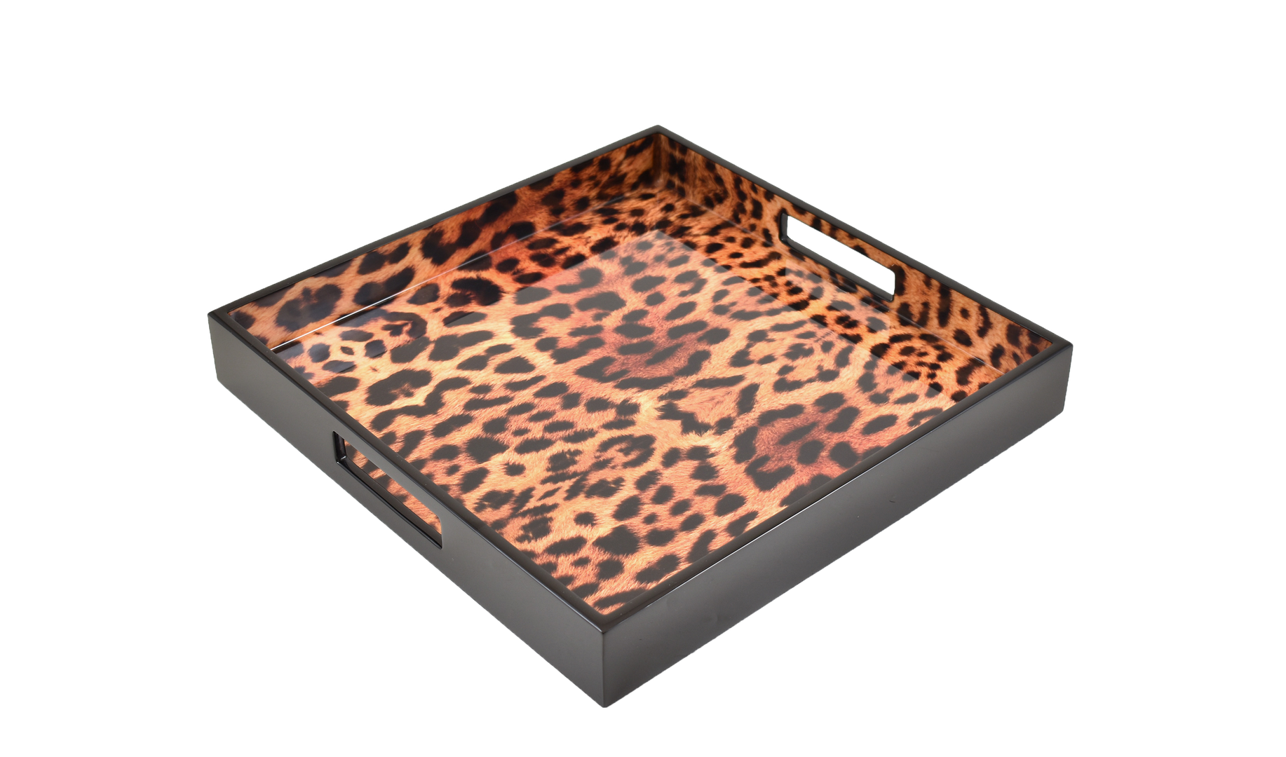 "Cheetah- 14"" Square Tray"