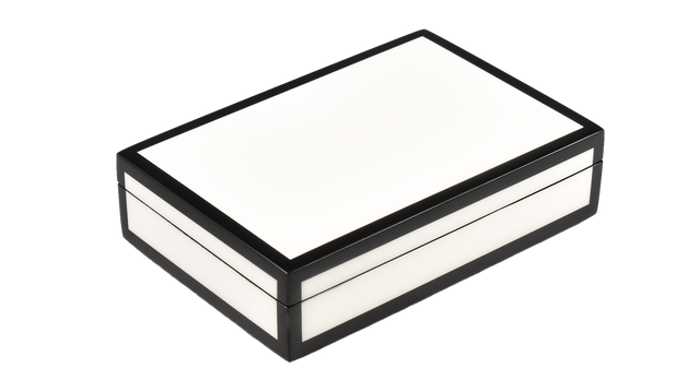 Five Side White with Black- Playing Card Box