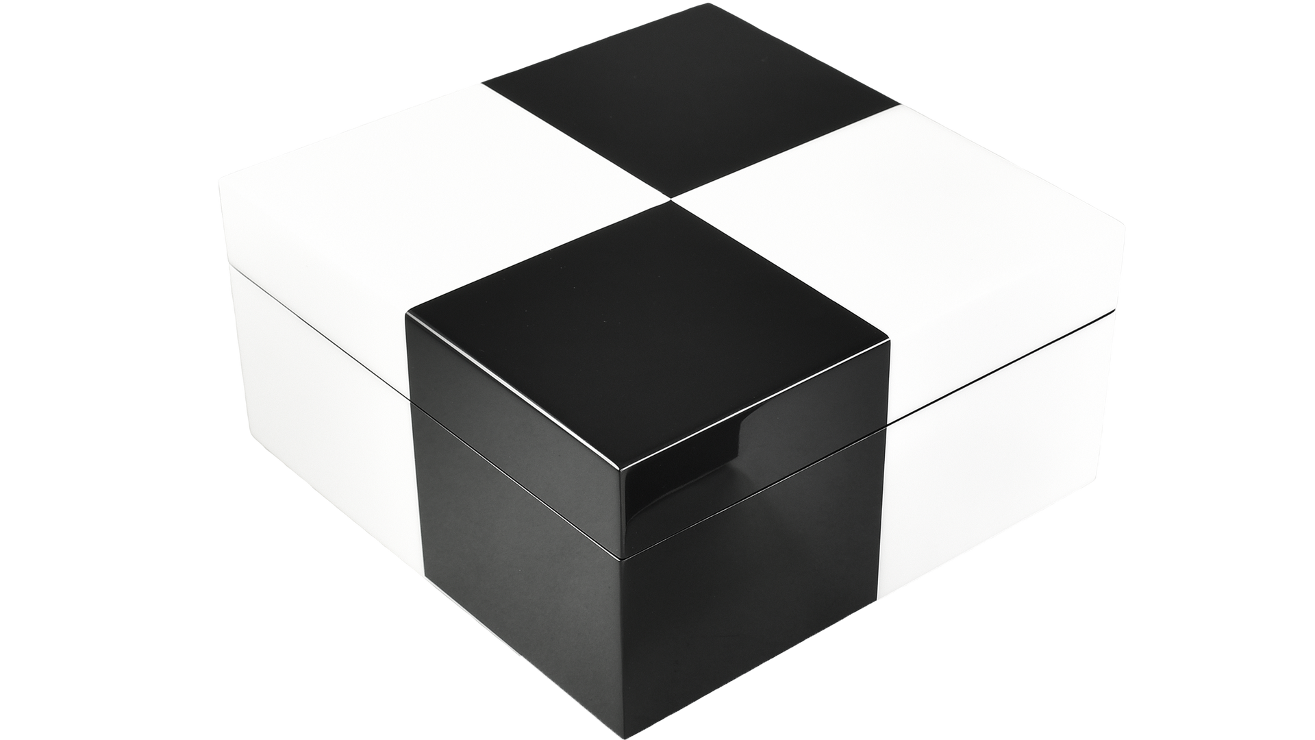 """Check"" Black and White- Hinged Box"