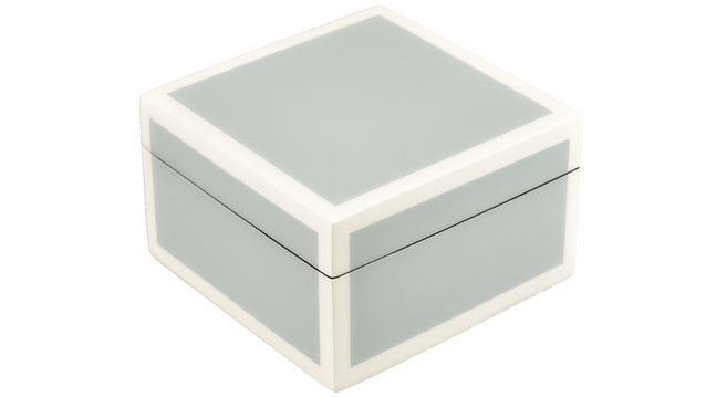Five Side Cool Gray with White- Square Box