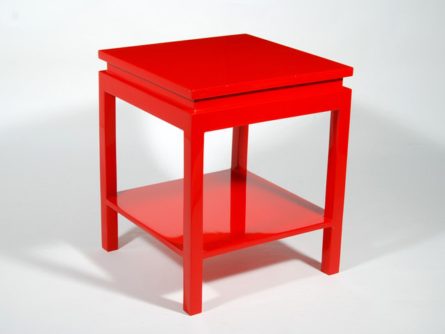 Ming Side Table- Red