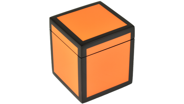 Orange Black Trim- Q-Tip Box