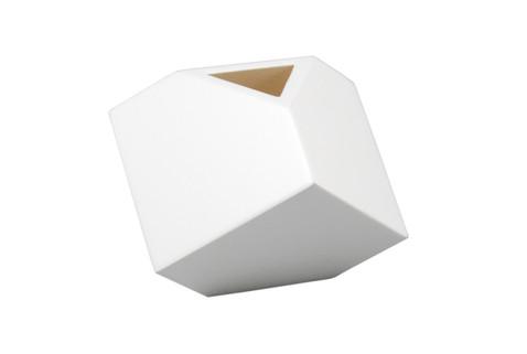 """White - 7"""" Cube Flower Vase"""